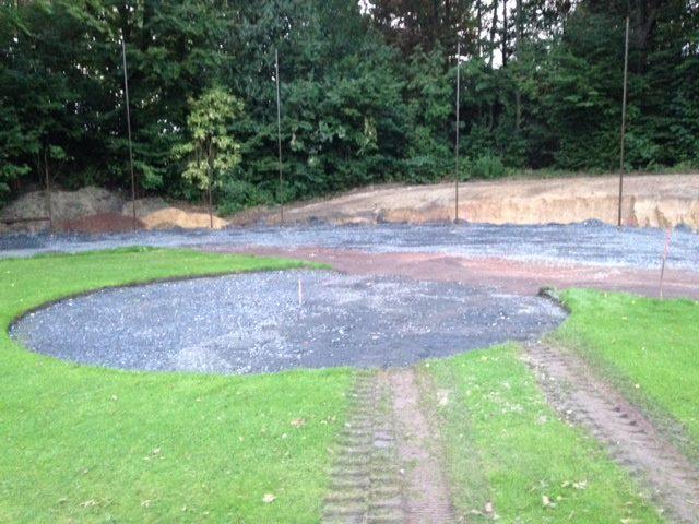 Bau der Home-Plate-Kreis